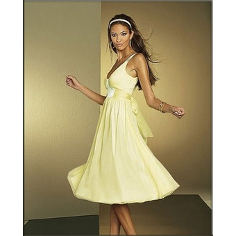 Apart Abendkleid gelb (Chiffonkleid)
