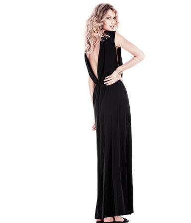 H&M Abendkleid lang schwarz