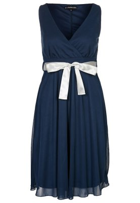 Abendkleid kurz blau, mit Schleife